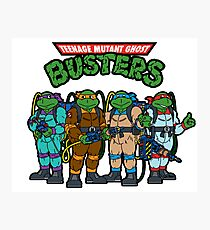 Teenage Mutant Ghost Busters Photographic Print