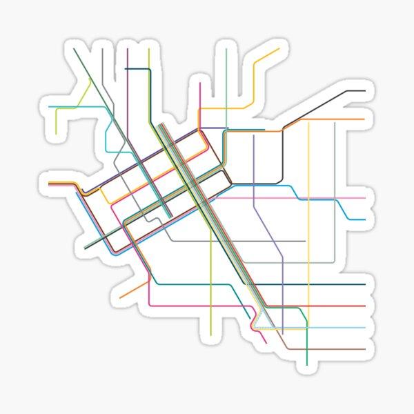 Melbourne Tram Map Sticker