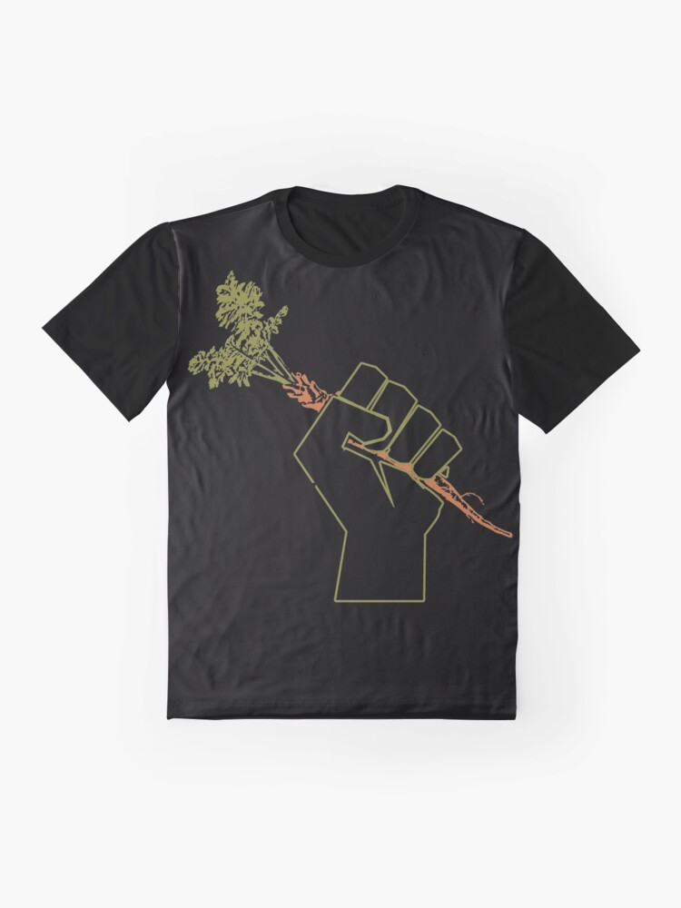 Alternate view of Veggie Permaculture Fist of Solidarity  Graphic T-Shirt