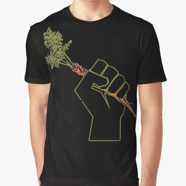 Veggie Permaculture Fist of Solidarity  Graphic T-Shirt
