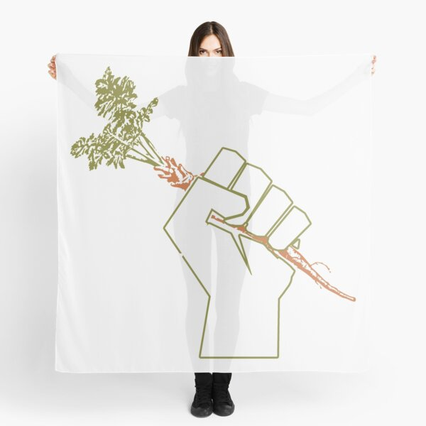 Veggie Permaculture Fist of Solidarity  Scarf