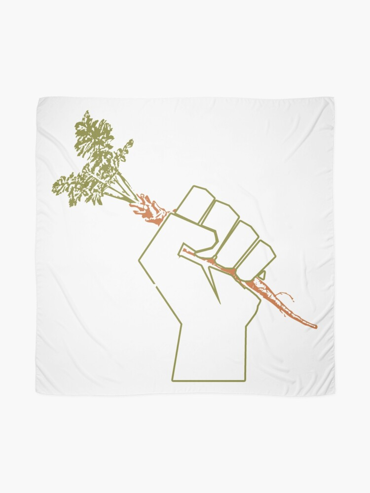 Alternate view of Veggie Permaculture Fist of Solidarity  Scarf
