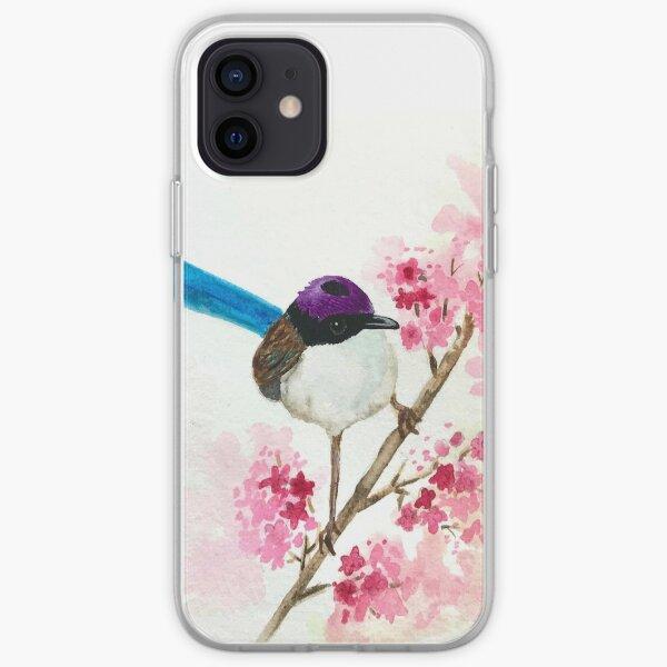 Watercolor Purple Fairy Wren iPhone Soft Case