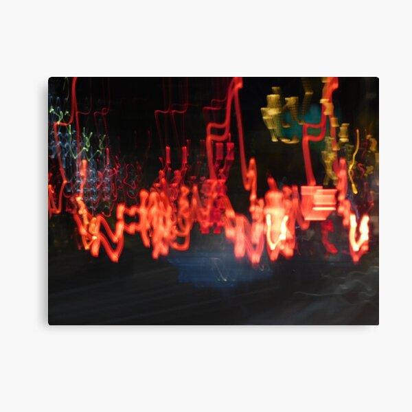 Light trails in the rain Canvas Print