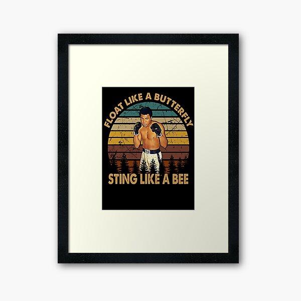 Vintage Muhammad Ali TShirt, Gift, Retro, Boxing. Sting Like A bee Framed Art Print