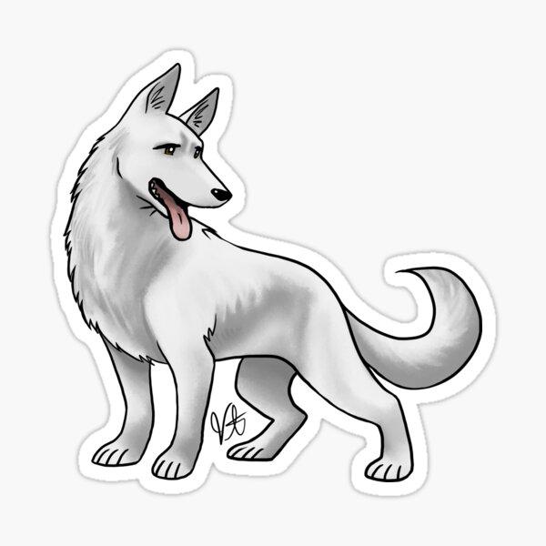 German Shepherd - White Sticker