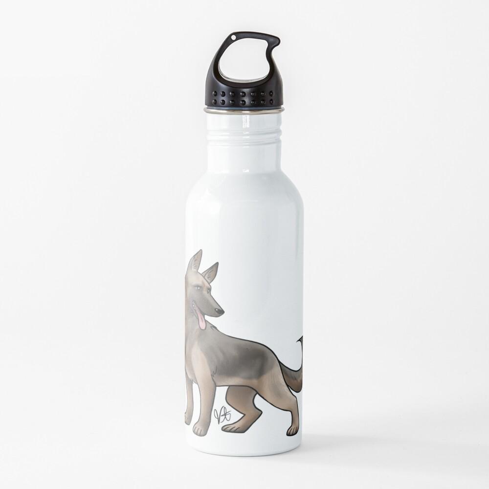 German Shepherd - Black and Tan Water Bottle