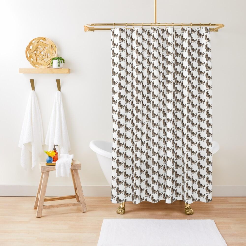 German Shepherd - Black and Tan Shower Curtain