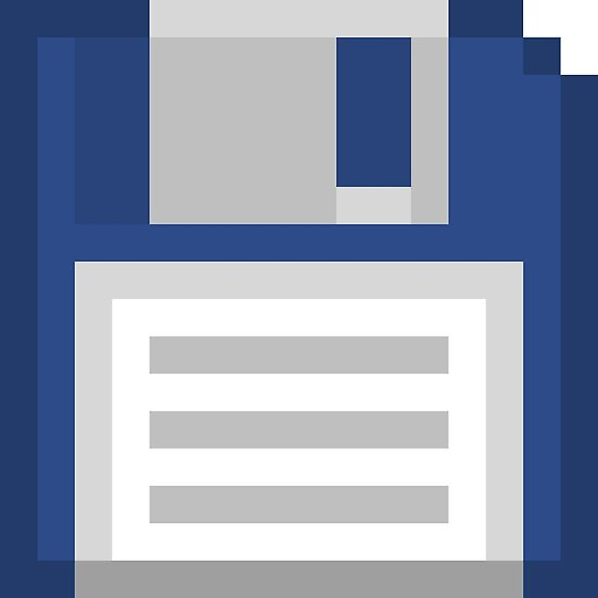 Pixel Floppy Disk by Phlum