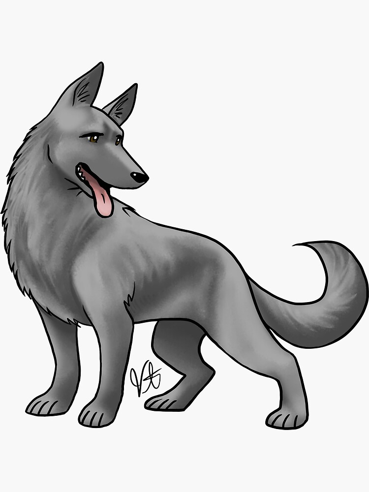 German Shepherd Black by jameson9101322