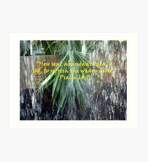 """Psalm 68:9""  by Carter L. Shepard Art Print"