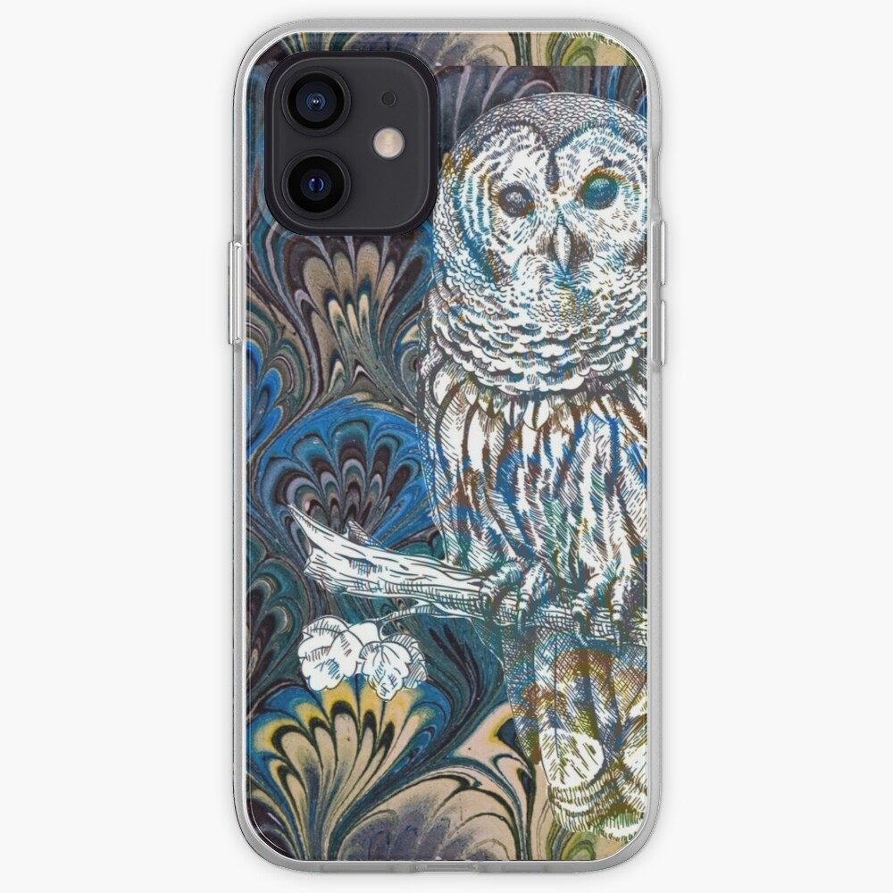 Owl in Blue iPhone Case & Cover