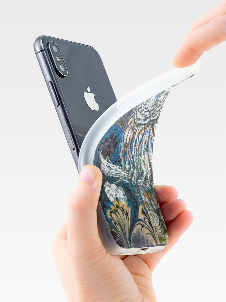 Alternate view of Owl in Blue iPhone Case & Cover
