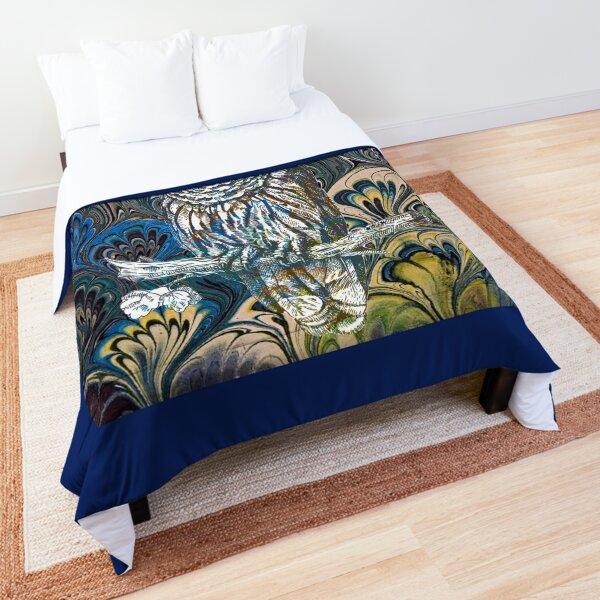 Owl in Blue Comforter