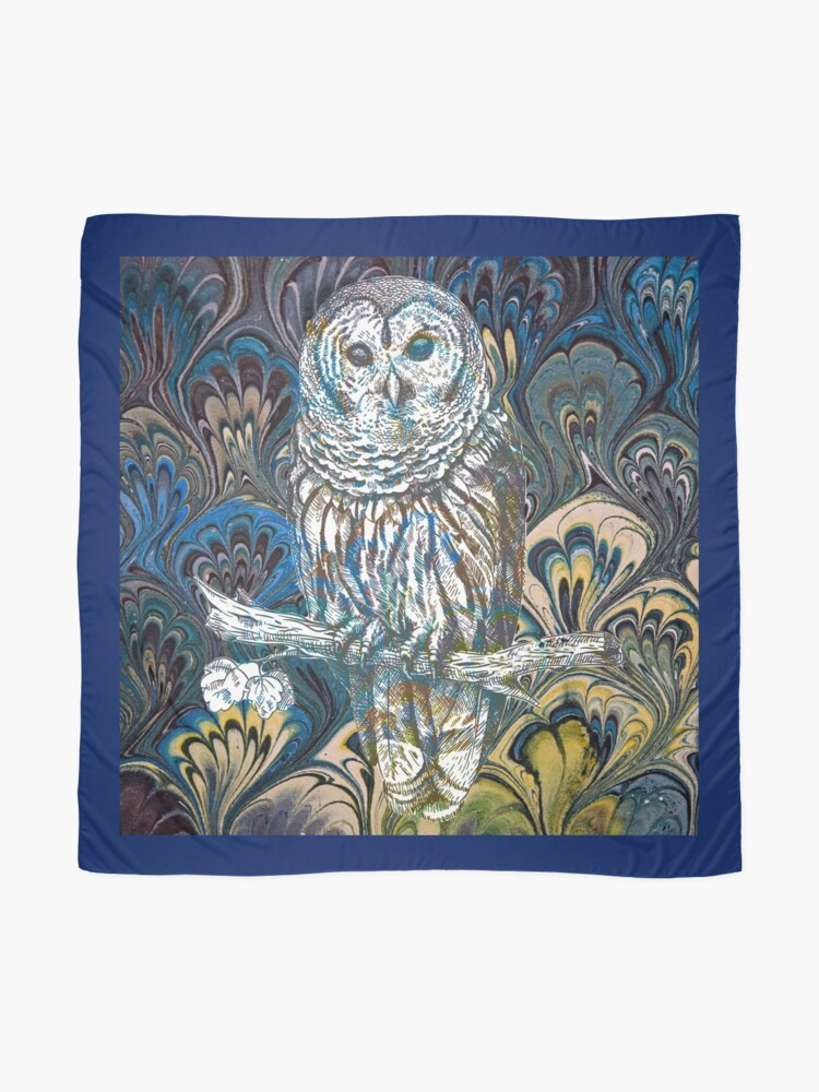 Alternate view of Owl in Blue Scarf