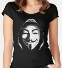 ANONYMOUS T-SHIRT Women's Fitted Scoop T-Shirt