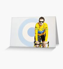 BRADLEY WIGGINS - MOD GOD CYCLIST Greeting Card