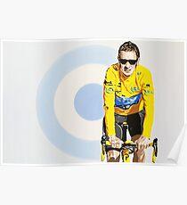 BRADLEY WIGGINS - MOD GOD CYCLIST Poster