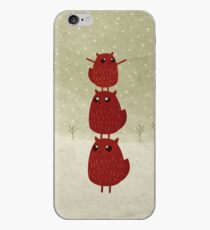 Stacked squirrel iPhone Case