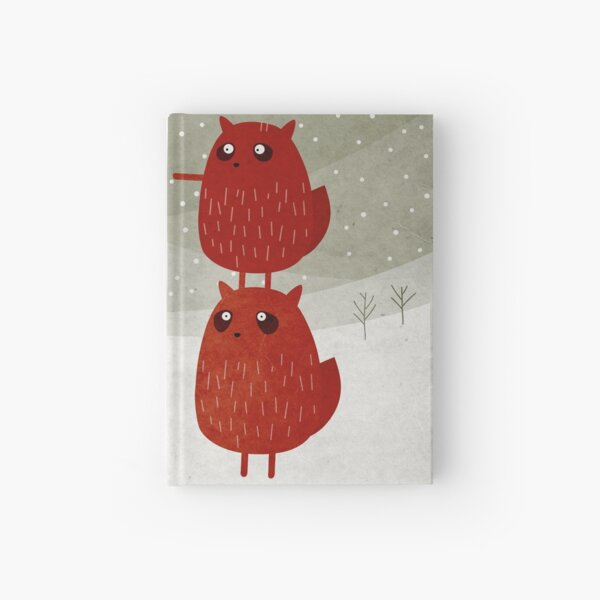 Stacked squirrel Hardcover Journal