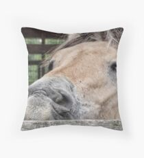 I'm having a bad hair day Throw Pillow