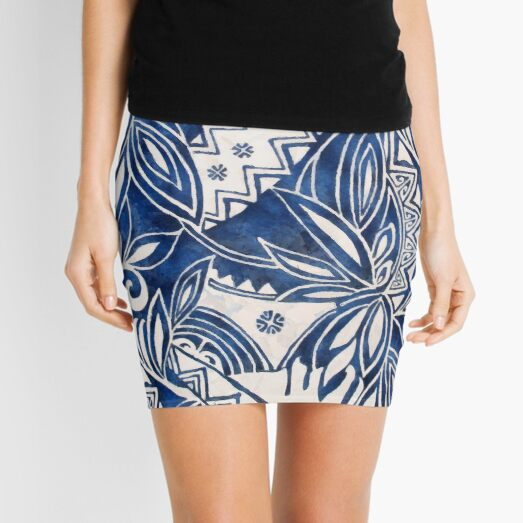 Hawaiian tribal pattern II Mini Skirt