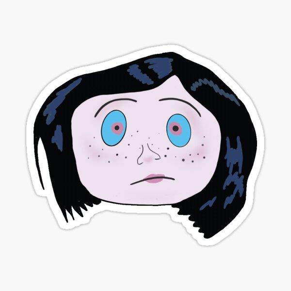 Coraline Button Eyes Sticker By Emmyloorose Redbubble