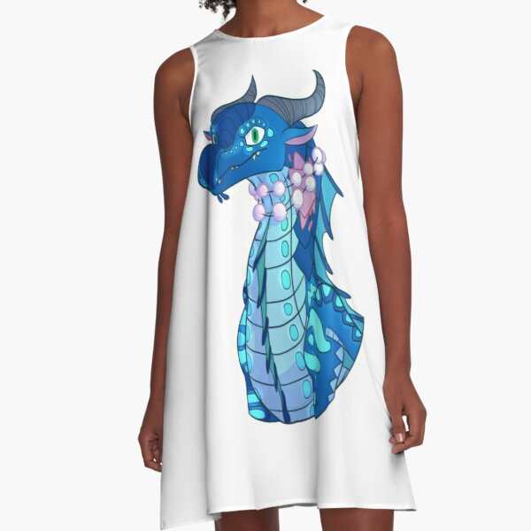 Wings of Fire Tsunami SeaWing Bust A-Line Dress