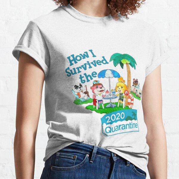 """Animal Crossing """"Wie ich die Quarantäne 2020 überlebt habe"""" Classic T-Shirt"""