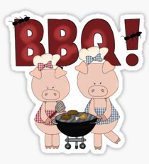 Barbeque Pigs Sticker