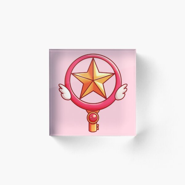 Cardcaptor Sakura Key Circle Star Wand Wings Acrylic Block