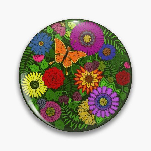 Beautiful Botanical Floral Art Pin