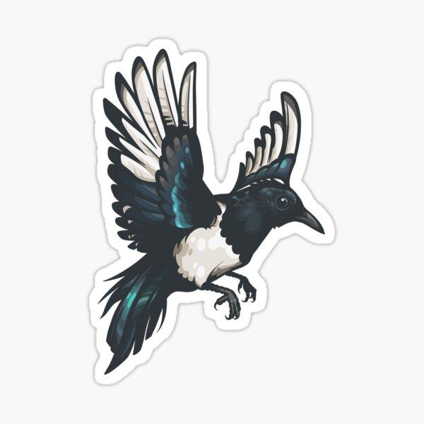 Black-Billed Magpie Sticker