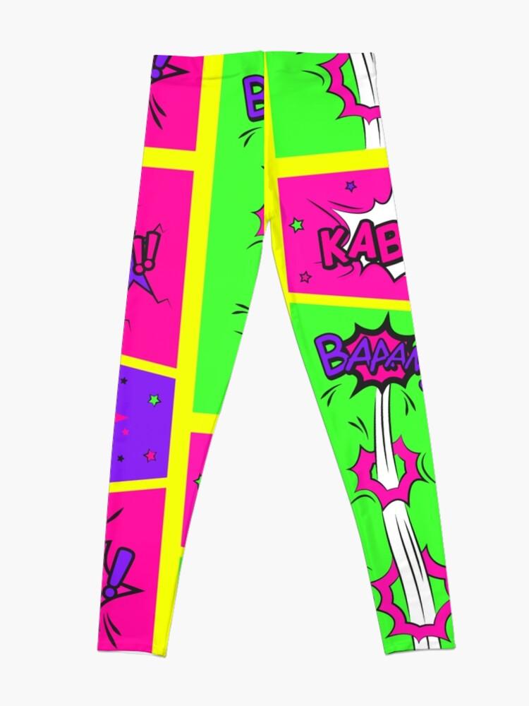 Alternate view of Bright and Colorful Comic Book Art Leggings