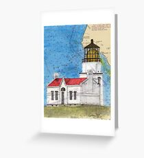 Pt Conception Lighthouse CA Nautical Cathy Peek Greeting Card