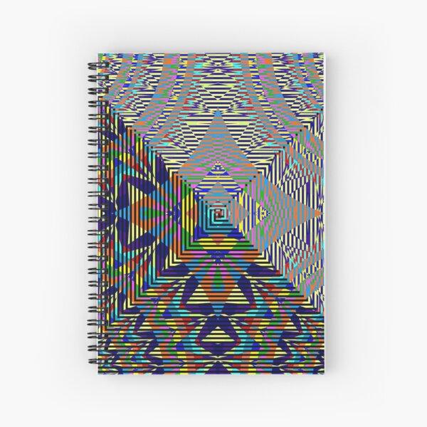 Square Spiral Rainbow Spiral Notebook