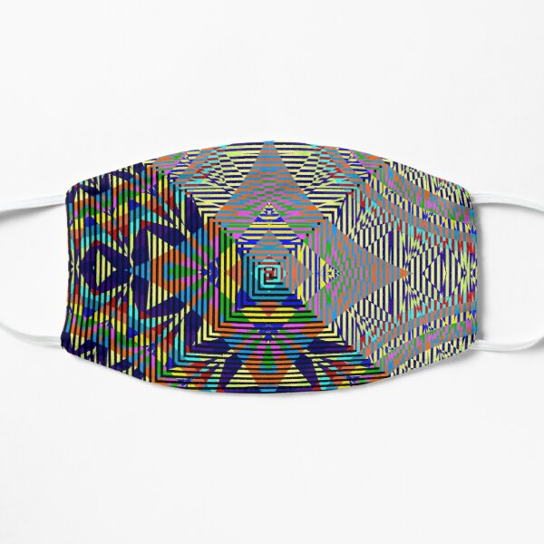 Square Spiral Rainbow Flat Mask