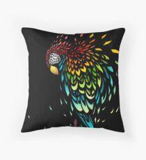 Parrot Broke Throw Pillow