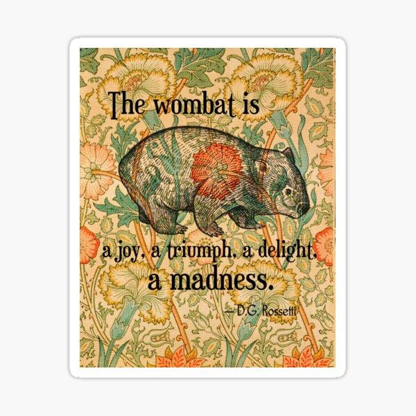 Ode to a Wombat Sticker