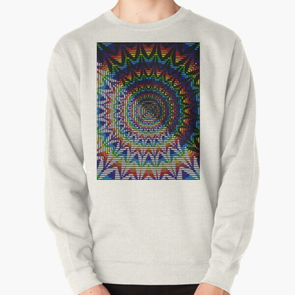 Square Spiral Rainbow Pullover Sweatshirt
