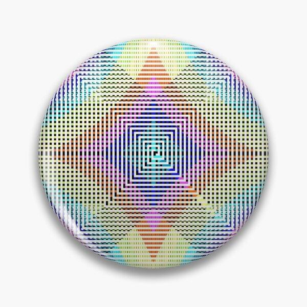 Square Spiral Rainbow Pin