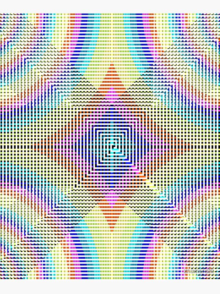 Square Spiral Rainbow by znamenski