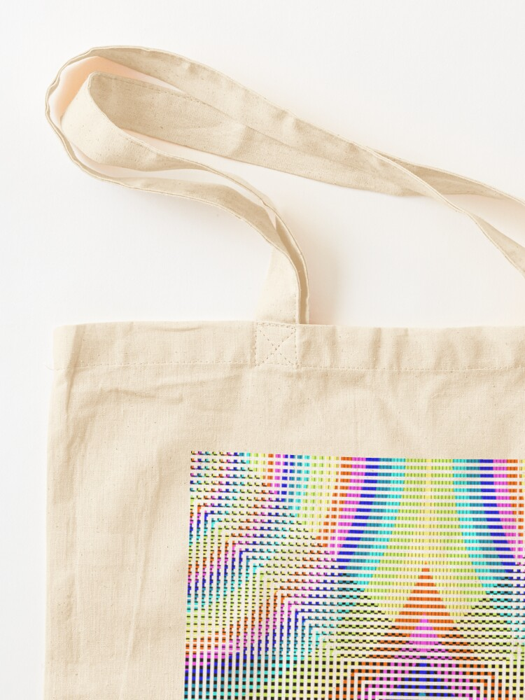 Alternate view of Square Spiral Rainbow Tote Bag