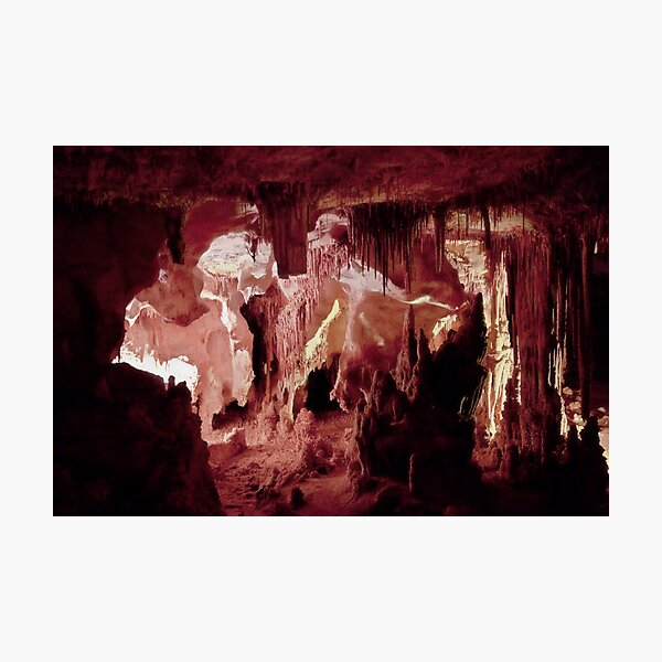 Ceiling of straws – Lehman Caves Photographic Print