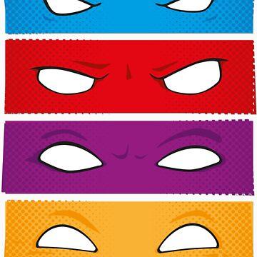 4 ninjas staring at you by artistaperezoso