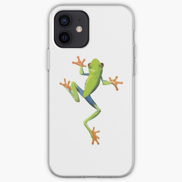 Greenery tree-frog iPhone Soft Case
