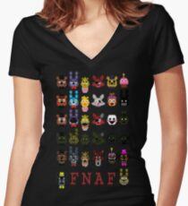 20 Nights at Freddy's Women's Fitted V-Neck T-Shirt