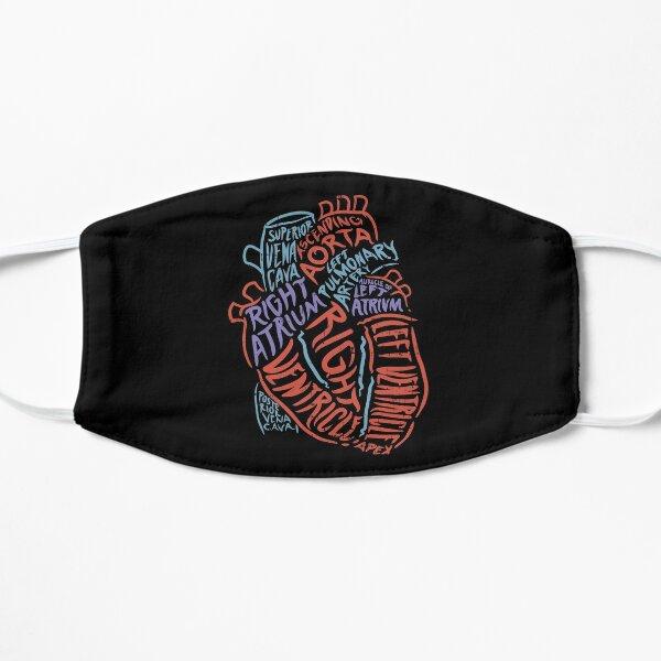 Anatomy Of Heart - Anatomical Organ Doctor Gift Flat Mask