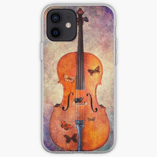 Magical cello with butterflies iPhone Soft Case