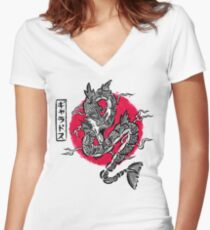 Ryu no inku Women's Fitted V-Neck T-Shirt